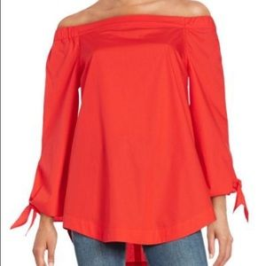 Free People Off Shoulder Tunic 3/4 Sleeve Size XS
